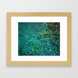 Painted Water Framed Art Print
