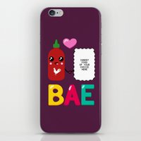 sriracha iPhone & iPod Skins featuring BAE by Ronnieboyjr