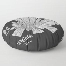Bangkok Map Floor Pillow