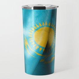 Kazakhstan Flag Travel Mug
