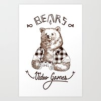 Bears and Videogames Art Print