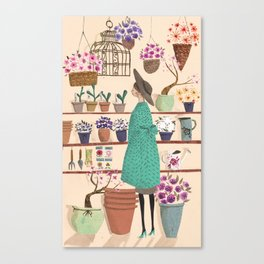 The Flower Shop Canvas Print