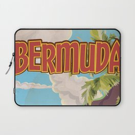BERMUDA vintage vacation travel poster Laptop Sleeve