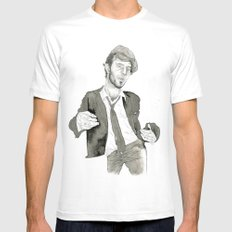 Tom Waits: The Early Years LARGE White Mens Fitted Tee