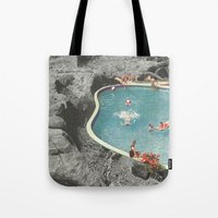 eddie vedder Tote Bags featuring is this the place that they call paradise? by Jesse Treece