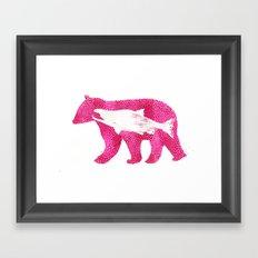 Salmon Bear Framed Art Print