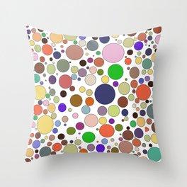 Colored balls & a heart Throw Pillow
