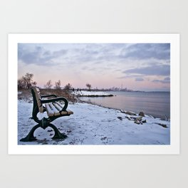 Winter dawns in Toronto, Canada Art Print