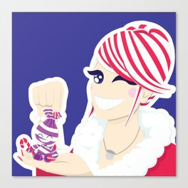 Candy Cane Girl Canvas Print