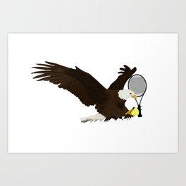 Tennis Eagle Art Print
