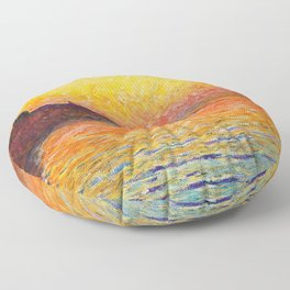 Claude Monet Sunset In Venice Floor Pillow