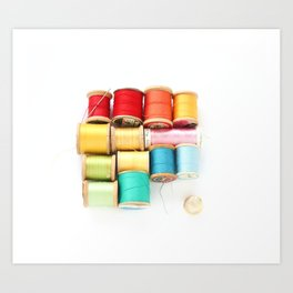 Colorful Needle and Thread Art Print