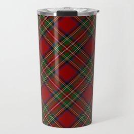 The Royal Stewart Tartan Stuart Clan Plaid Tartan Travel Mug