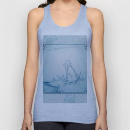 Lonely Dog Unisex Tank Top