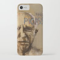pablo picasso iPhone & iPod Cases featuring 50 Artists: Pablo Picasso by Chad Beroth