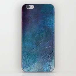 Atmosphere // blue magenta abstract textural painting, modern iPhone Skin