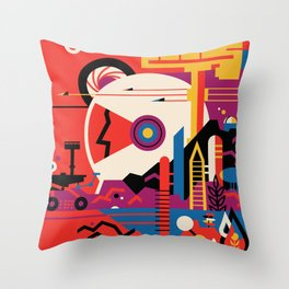 Nasa Poster / Mars / Visions of the future Throw Pillow