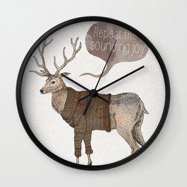 Repeat the Sounding Joy Wall Clock