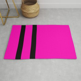 Hot Pink with Black Stripes Rug