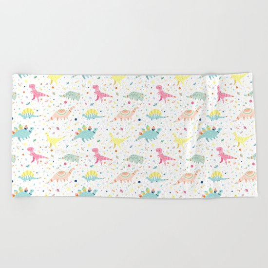 Dinosaur Pattern Beach Towel