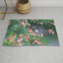 Red Columbine - Wildflower Photograph Rug
