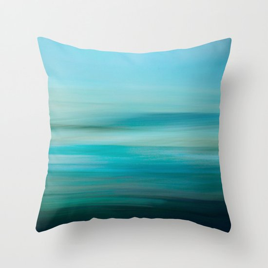 Greenish Blue Sea Throw Pillow