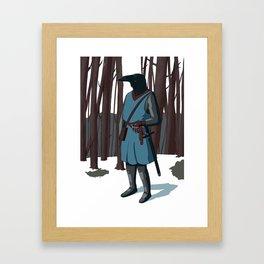 Crow Boy Framed Art Print