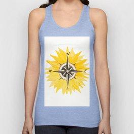Compass  Sunflower Unisex Tank Top