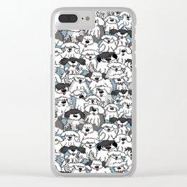 Aqua Dogs Clear iPhone Case
