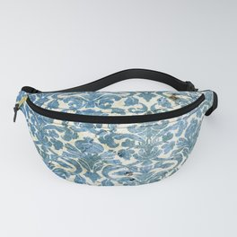 Vintage Antique Blue Wallpaper Pattern Fanny Pack