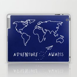 Adventure Map - Navy Blue Laptop & iPad Skin