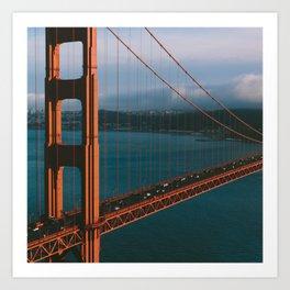 1:1 Golden Gate Bridge - San Francisco, California Art Print