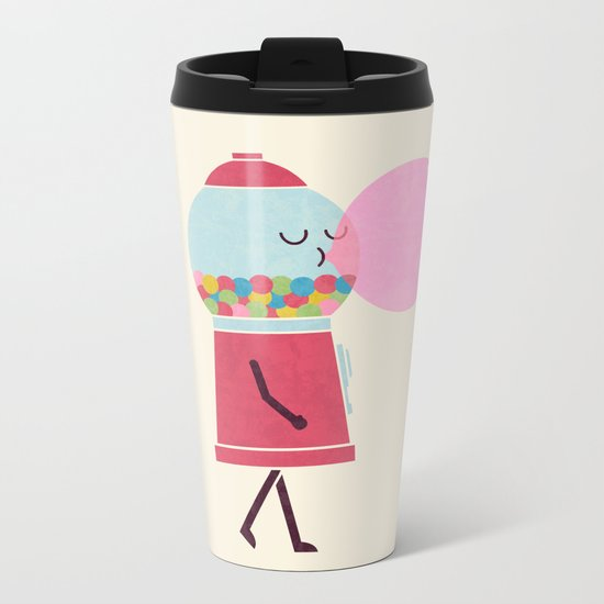 Bubble Gum Metal Travel Mug