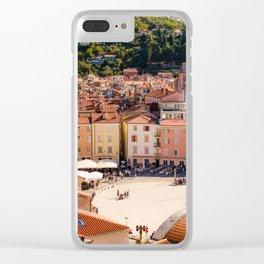 Mediterranean Summer Clear iPhone Case