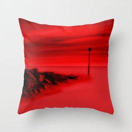 Scorching Seas Throw Pillow
