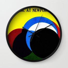1961 Newport Jazz Festival Vintage Advertisement Poster Newport, Rhode Island Wall Clock