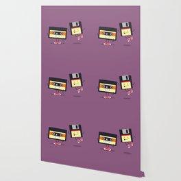 Floppy disk and cassette tape Wallpaper