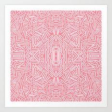 Radiate (Salmon) Art Print