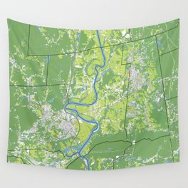 Pioneer Valley map Wall Tapestry