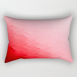 Red Texture Ombre Rectangular Pillow