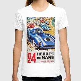Le Mans poster, 1956, race poster, t shirt T-shirt