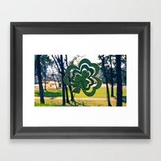 Symbol of luck Framed Art Print
