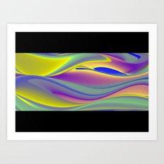 Abstract Rainbowart in retrostyle 10 Art Print