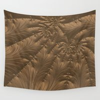 renaissance Wall Tapestries featuring Renaissance Brown by Charma Rose