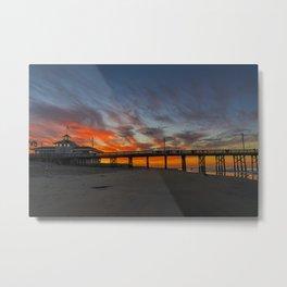Pre Sunrise at Newport Pier Metal Print