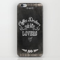 coffee iPhone & iPod Skins featuring COFFEE by Monika Strigel