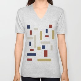 Abstract Theo van Doesburg Composition VIII (White) The Three Graces Unisex V-Neck