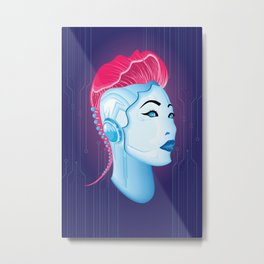 Cyber chick 001 Metal Print