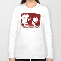 winchester Long Sleeve T-shirts featuring Team Winchester by Panda Cool