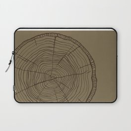 Tree rings brown Laptop Sleeve
